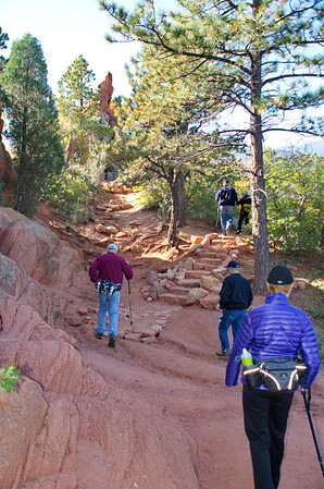 """Our thanks to the Contemplative Trail builders who provided many hiking """"aids"""" like this ... a stone staircase."""